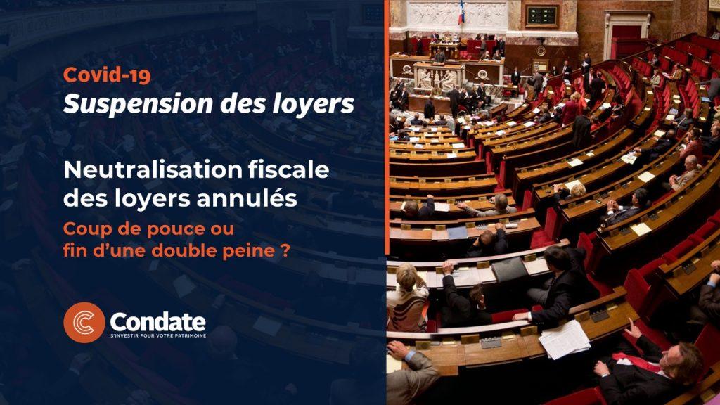 Covid-19 : Neutralisation fiscale des loyers annulés