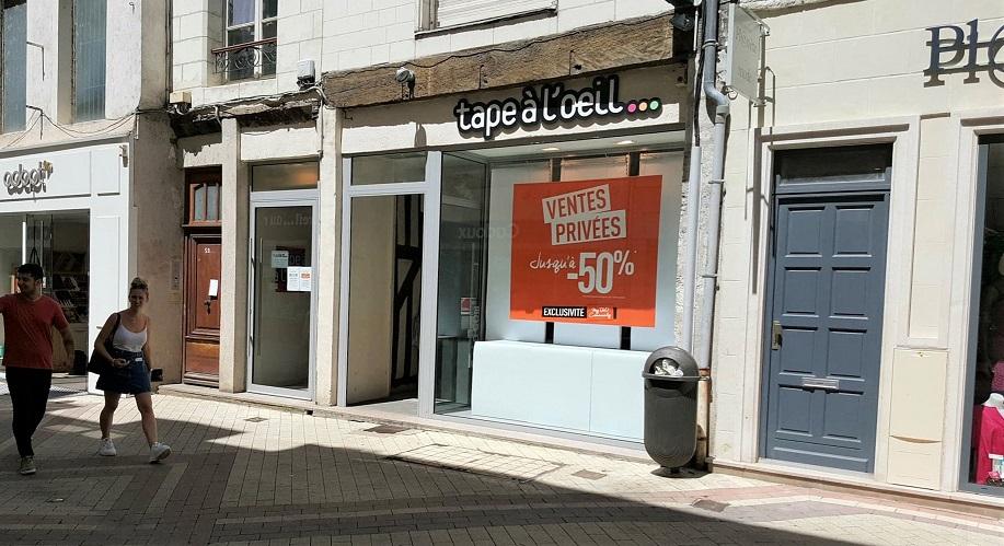 Blois : Les murs de la boutique Tape à l'oeil changent de main