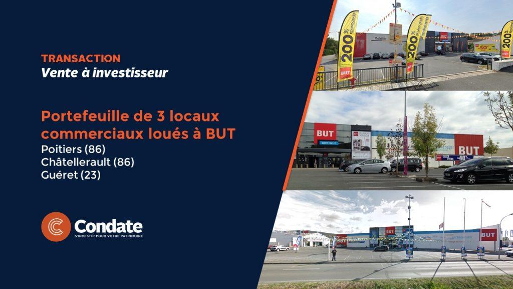 Châtellerault : un family-office acquiert des locaux commerciaux loués à BUT